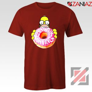 Homer Jay Simpson Donut Vintage Red Tshirt
