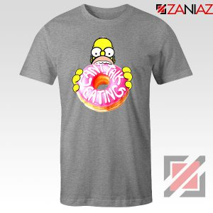 Homer Jay Simpson Donut Vintage Sport Grey Tshirt