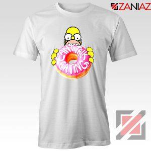 Homer Jay Simpson Donut Vintage White Tshirt