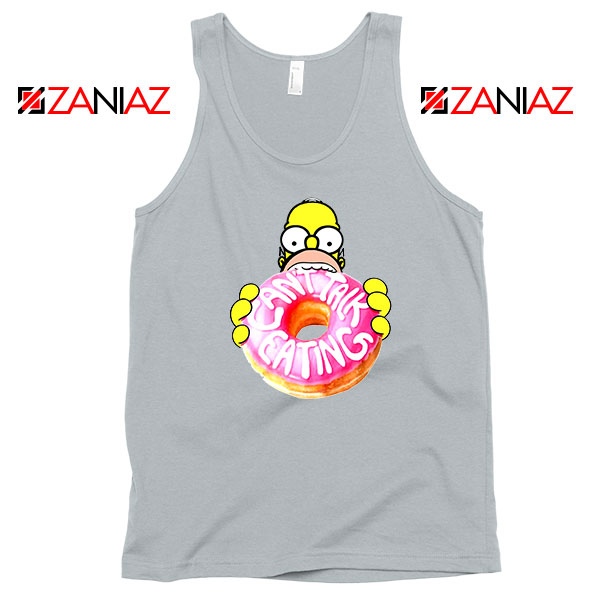 Homer Jay Simpson Eat Donut Grey Tank Top