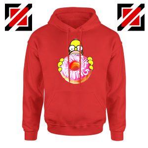 Homer Jay Simpson Eat Donut Red Hoodie