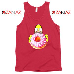Homer Jay Simpson Eat Donut Red Tank Top