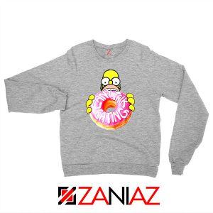 Homer Jay Simpson Eat Donut Sport Grey Sweatshirt
