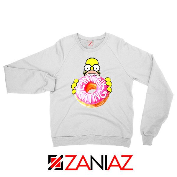 Homer Jay Simpson Eat Donut White Sweatshirt