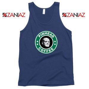 Horror Pinhead Starbucks Coffee Navy Blue Tank Top