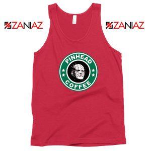 Horror Pinhead Starbucks Coffee Red Tank Top