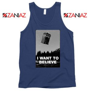 I Want To Believe Doctor Who Best Navy Blue Tank Top