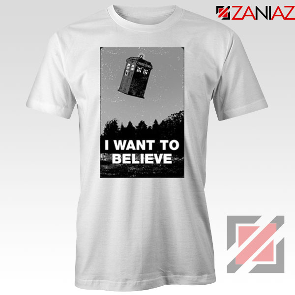I Want To Believe Doctor Who Graphic White Tee
