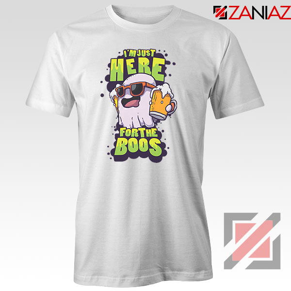 Just Here For The Boos Ghost Graphic Tee