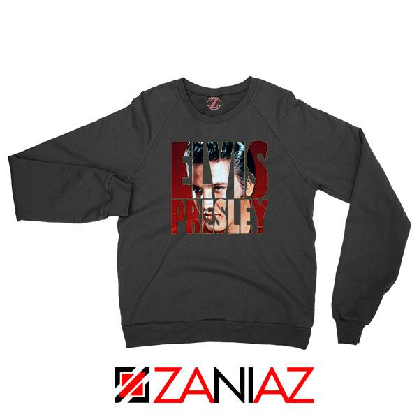 King Of Rock Elvis Presley Black Sweatshirt