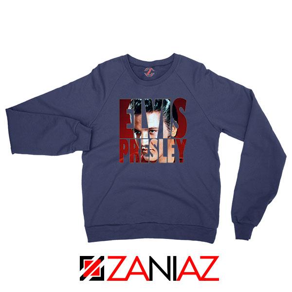 King Of Rock Elvis Presley Navy Blue Sweatshirt