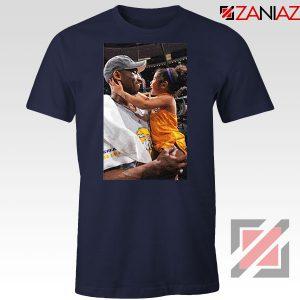 Kobe and Gigi Basketball Champ Family Navy Blue Tees