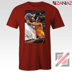 Kobe and Gigi Basketball Champ Family Red Tees
