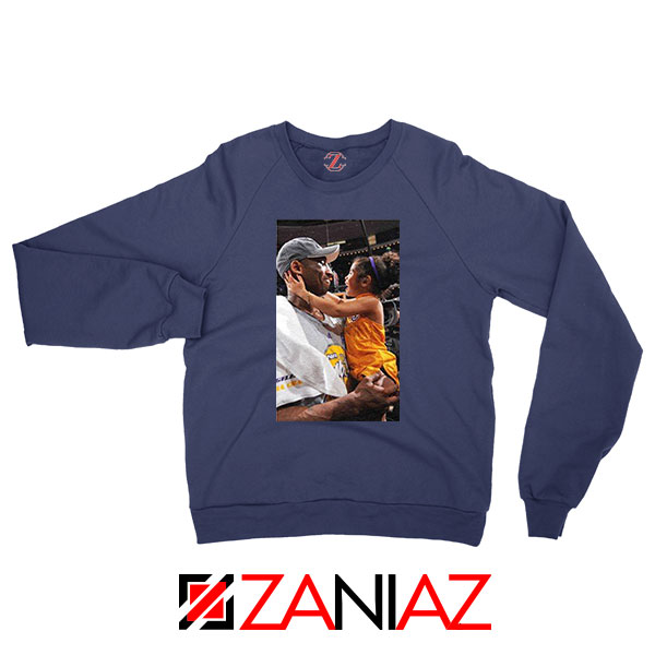 Kobe and Gigi Basketball Champ Navy Blue Sweatshirt
