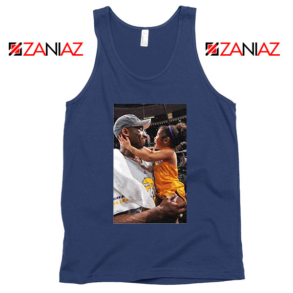 Kobe and Gigi NBA Champ Family Navy Blue Tank Top