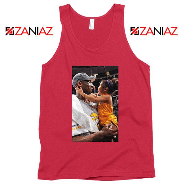 Kobe and Gigi NBA Champ Family Red Tank Top
