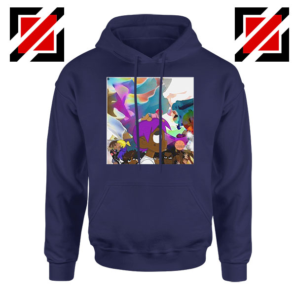 Lil Uzi Vert Lp Cover Best Graphic Navy Blue Hoodie