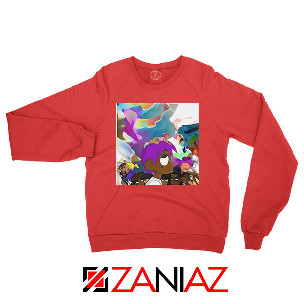 Lil Uzi Vert Lp Cover Graphic Red Sweatshirt