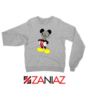 MF Doom Disney Mascot Merch Grey Sweatshirt