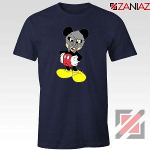 MF Doom Disney Mickey Mouse Graphic Navy Blue Tee