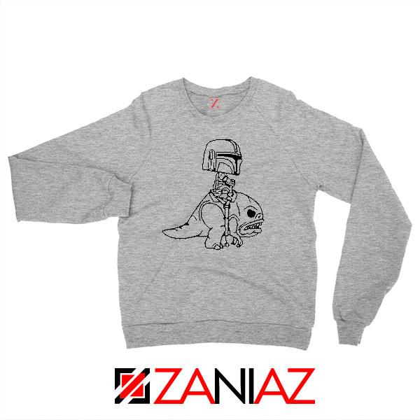 Mandalorian Blurrg Rider Grey Sweatshirt