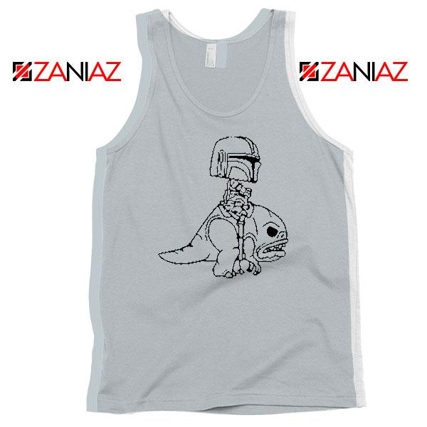 Mandalorian Blurrg Rider Grey Tank Top