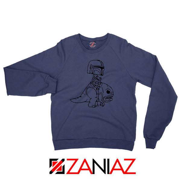 Mandalorian Blurrg Rider Navy Blue Sweatshirt