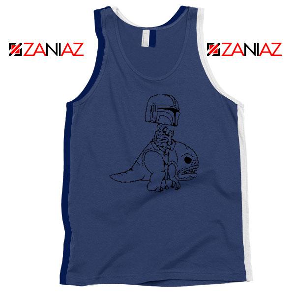 Mandalorian Blurrg Rider Navy Blue Tank Top