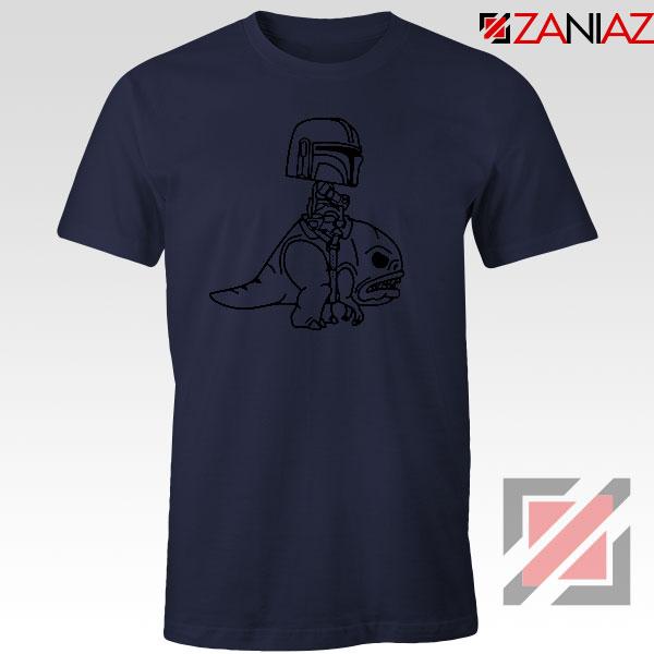 Mandalorian Blurrg Rider Navy Blue Tshirt