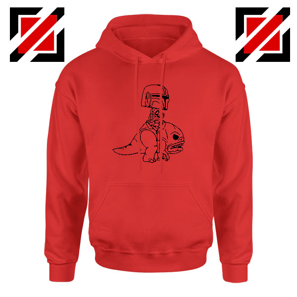 Mandalorian Blurrg Rider Red Hoodie
