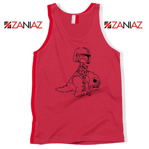 Mandalorian Blurrg Rider Red Tank Top