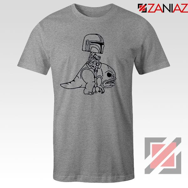 Mandalorian Blurrg Rider Sport Grey Tshirt
