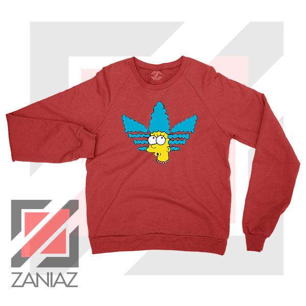 Marge Simpson Adidas Sitcom Red Sweatshirt