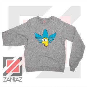 Marge Simpson Adidas Sitcom Sport Grey Sweatshirt