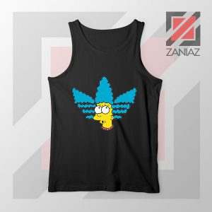 Marge Simpson Sitcom Adidas Black Tank Top