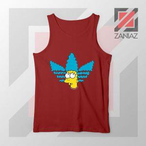 Marge Simpson Sitcom Adidas Red Tank Top