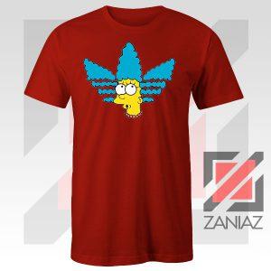 Marge Simpson Sitcom Graphic Red Tshirt