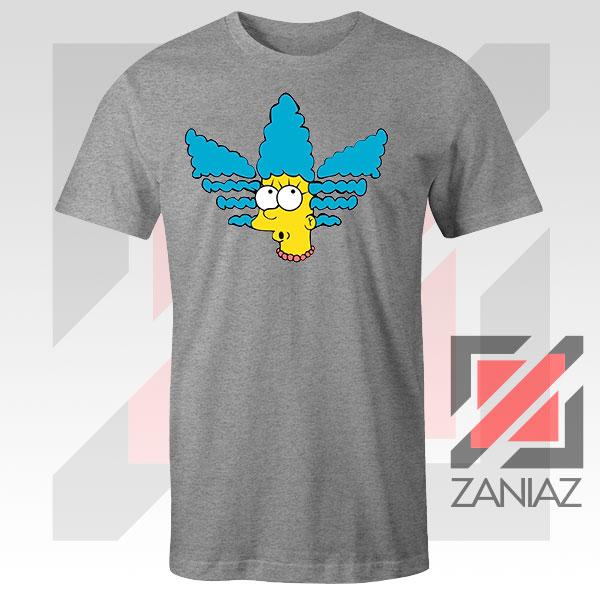 Marge Simpson Sitcom Graphic Sport Grey Tshirt