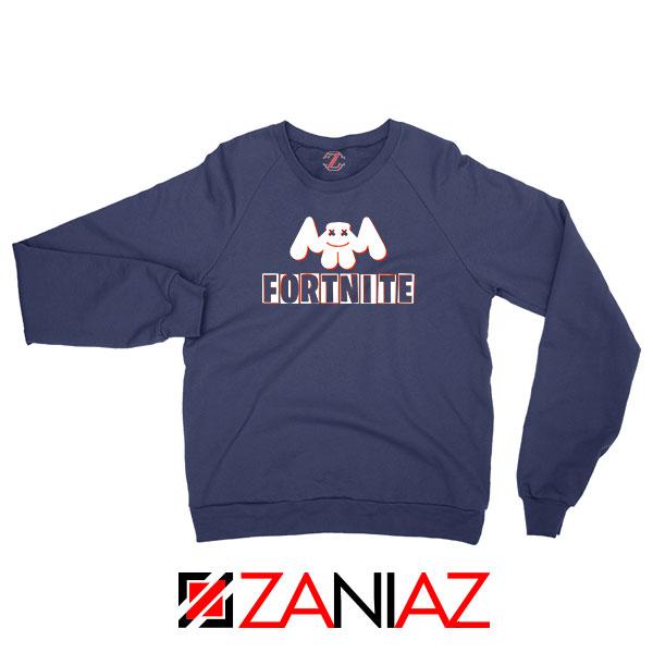 Marshmello DJ Fortnite Gamer Navy Blue Sweatshirt