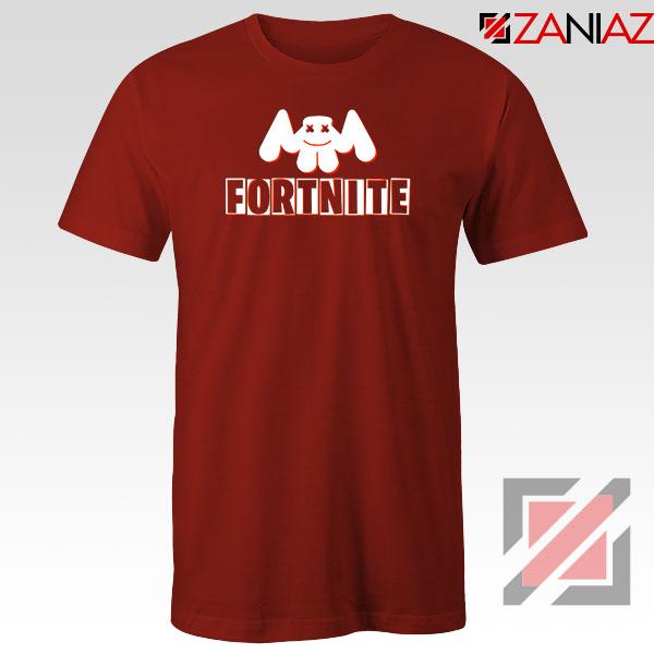 Marshmello Fortnite Gaming Red Tshirt
