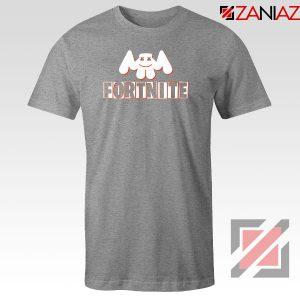 Marshmello Fortnite Gaming Sport Grey Tshirt