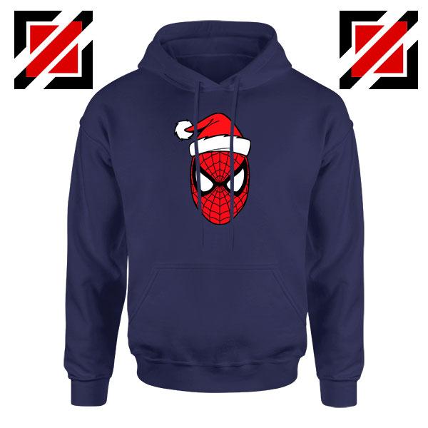 Marvel Spiderman Christmas Navy Blue Hoodie