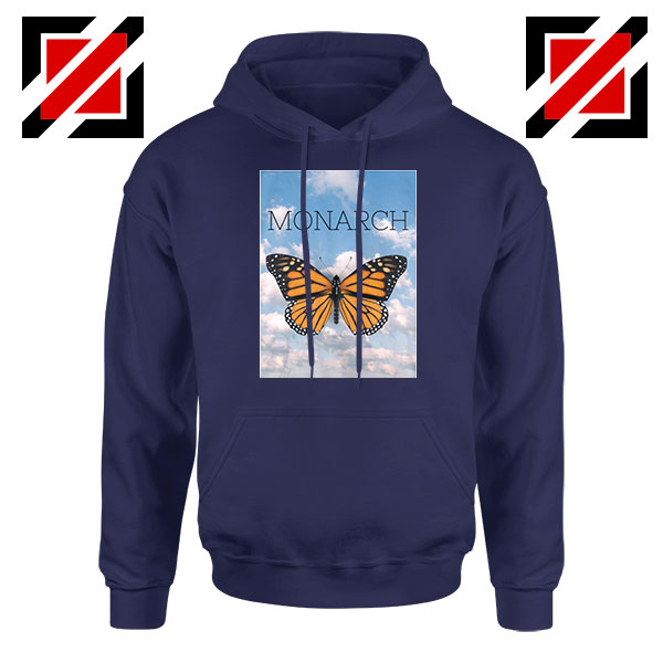 Monarch Butterfly Graphic Animal Navy Blue Hoodie
