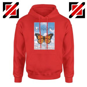 Monarch Butterfly Graphic Animal Red Hoodie