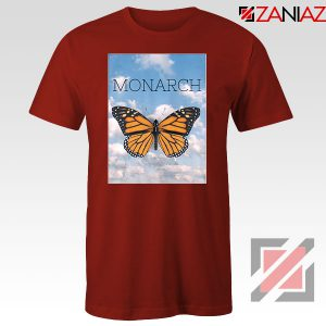 Monarch Butterfly Graphic Animal Red Tshirt