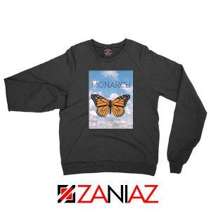Monarch Butterfly Graphic Animal Sweatshirt