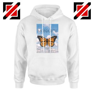Monarch Butterfly Graphic Animal White Hoodie