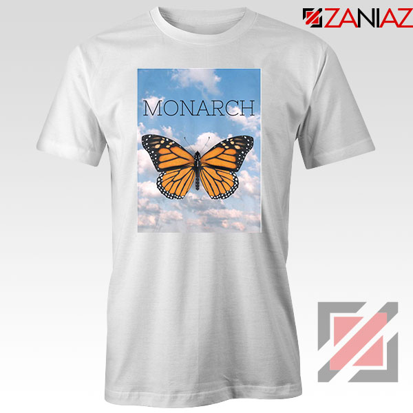 Monarch Butterfly Graphic Animal White Tshirt