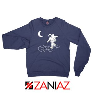 Moon and Astronaut Playing Navy Blue Sweatshirt