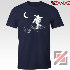 Moon and Astronaut Playing Navy Blue Tshirt
